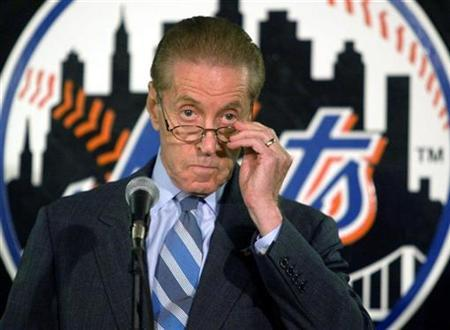 New York Mets chairman and CEO Fred Wilpon in a file photo. REUTERS/Jeff Christensen