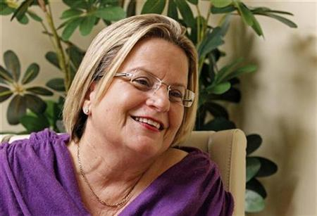 Congresswoman Ileana Ros-Lehtinen speaks with Reuters at her office in Miami, November 10, 2010. REUTERS/Joe Skipper