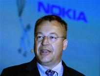 <p>Novo presidente-executivo da Nokia, Stephen Elop, fará projeções financeiras de longo prazo na sexta-feira. 15/09/2010 REUTERS/Luke MacGregor</p>