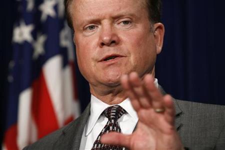 Virginia Senator Jim Webb on Capitol Hill, March 5, 2007. REUTERS/Kevin Lamarque