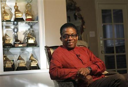 Musician Herbie Hancock poses for a portrait at his home in Los Angeles February 2, 2011. REUTERS/Mario Anzuoni