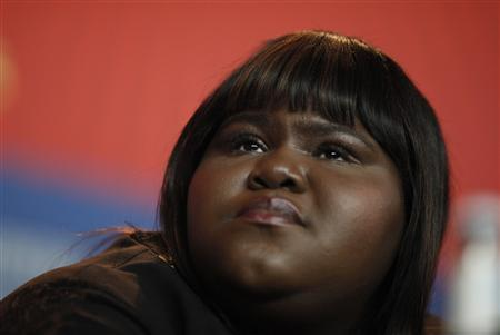 Actresses Gabourey Sidibe attends a news conference promoting the movie 'Yelling to the Sky' at the 61st Berlinale International Film Festival in Berlin February 12, 2011. REUTERS/Thomas Peter