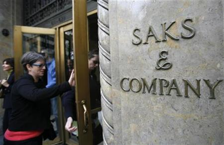 The outside of the Saks Fifth Avenue store is seen in New York October 8, 2009. REUTERS/Shannon Stapleton