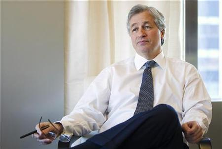 Jamie Dimon, CEO and chairman of JPMorgan Chase & Co., answers a question during an interview in his office in New York, in this photo taken December 22, 2010. REUTERS/Lucas Jackson