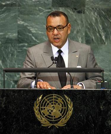 Morocco's King Mohammed VI speaks during the Millennium Development Goals Summit at United Nations headquarters in New York September 20, 2010. REUTERS/Chip East