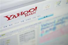 <p>Foto de archivo del sitio web de Yahoo Japón visto desde un ordenador en Tokio, ago 19 2009. La empresa de internet Yahoo se encuentra en conversaciones avanzadas para salir de su sociedad en Japón, para tratar de resolver alianzas asiáticas disfuncionales y liberar hasta 8.000 millones de dólares que sirvan a su batalla contra Google y Facebook. REUTERS/Stringer</p>
