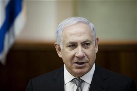 Israel's Prime Minister Benjamin Netanyahu attends the weekly cabinet meeting in Jerusalem March 6, 2011. REUTERS/Uriel Sinai/Pool