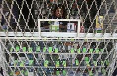 <p>Foto de archivo de una tienda de venta de teléfonos móviles en Ciudad de México, oct 20 2009. La lucha por el mercado de las telecomunicaciones mexicano es una guerra: mientras empresas rivales se unen contra Carlos Slim, el magnate les responde cortando la compra de publicidad, en una pulseada en la que deberá ceder el que más dinero pierda. REUTERS/Daniel Aguilar</p>