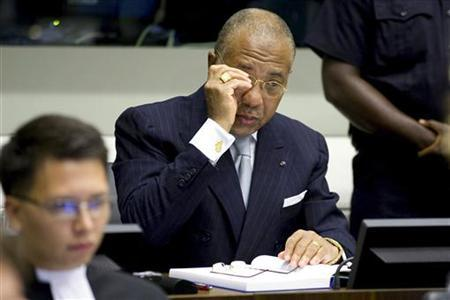 Former Liberian President Charles Taylor is seen at the U.N.-backed Special Court for Sierra Leone in Leidschendam, the Netherlands, August 5, 2010. REUTERS/Vincent Jannink/Pool