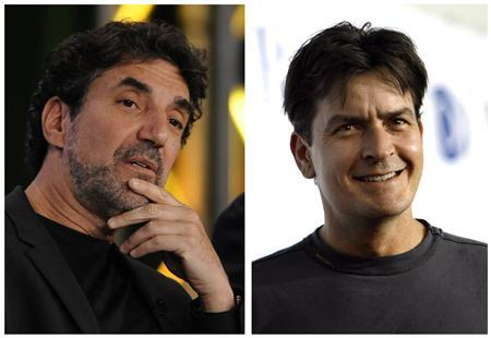 ''Two and a Half Men'' producer Chuck Lorre and actor Charlie Sheen in a combo image. REUTERS/Files