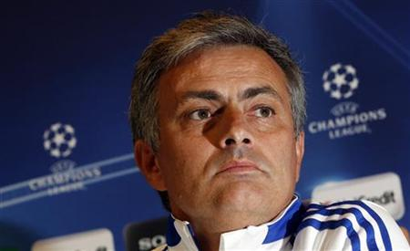 Real Madrid's coach Jose Mourinho attends a news conference at club's training ground in Madrid March 15, 2011. REUTERS/Sergio Perez