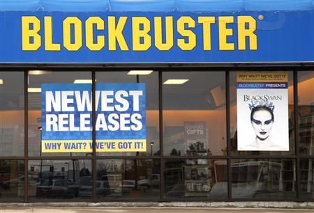 The Blockbuster movie rental store is open for business in the Denver suburb of Broomfield, April 6, 2011. REUTERS/Rick Wilking