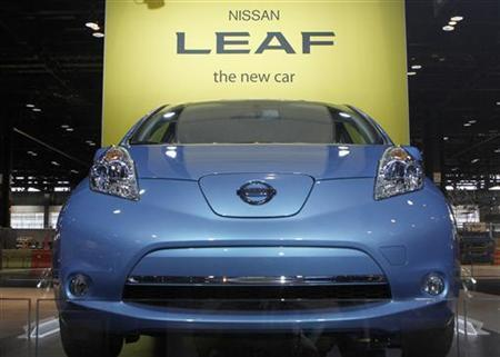 A pre-production 2012 Nissan Leaf is shown during the first media preview day at the 2011 Chicago Auto Show in Chicago, Illinois February 9, 2011. REUTERS/Frank Polich