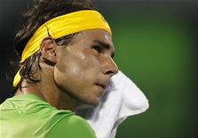 <p>Rafael Nadal, da Espanha, em jogo contra Tomas Berdych, da República Tcheca, na Flórida. Foto de Arquivo 31/03/2011 REUTERS/Hans Deryk</p>