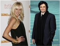 <p>Kimberly Stewart and Benicio del Toro in la combination photo. REUTERS/Fred Prouser and Juan Medina</p>