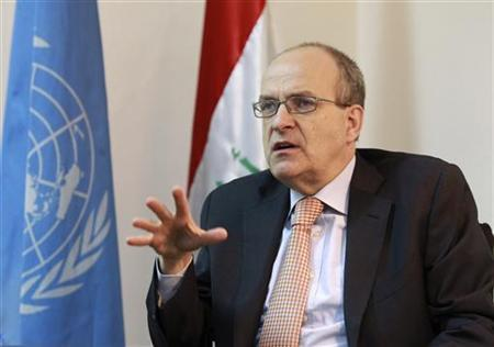 Ad Melkert, the Special Representative of the United Nations Secretary-General for Iraq (SRSG) speaks during an interview with Reuters in Baghdad October 20, 2010. REUTERS/Thaier al-Sudani