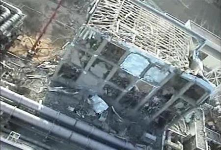 Tokyo Electric Power (TEPCO) Co.'s crippled Fukushima Daiichi Nuclear Power Plant No.4 reactor is seen in this still image taken from a video shot by an unmanned helicopter on April 10, 2011 and released by TEPCO April 11, 2011. REUTERS/Tokyo Electric Power Co/Handout