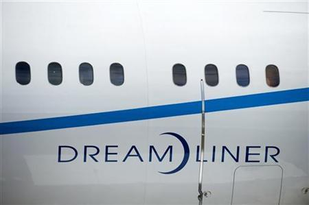 A section of the main body of the Boeing 787 Dreamliner is seen at the 2010 Farnborough International Airshow in Farnborough, southern England July 19, 2010. REUTERS/Kieran Doherty