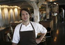 <p>Chef Rene Redzepi poses in his restaurant, Noma in Copenhagen in this December 12, 2009 file photograph. Danish restaurant Noma in Copenhagen was crowned the world's best restaurant for the second year in a row in an annual list, beating out top eateries in Spain, Italy, Britain, the United States and elsewhere. REUTERS/Christian Charisius/Files</p>