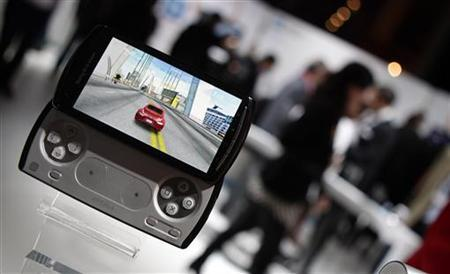 A Sony-Ericsson Xperia Play is displayed at the GSMA Mobile World Congress in Barcelona, February 14, 2011. REUTERS/Albert Gea