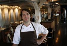 <p>Chef Rene Redzepi poses in his restaurant Noma in Copenhagen in this December 12, 2009 file photograph. REUTERS/Christian Charisius/ Files</p>