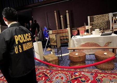 Personal property of Bernard and Ruth Madoff is seen during a press preview of the auction items seized in New York and Florida by the United States Marshals Service, in New York November 13, 2009. REUTERS/Shannon Stapleton
