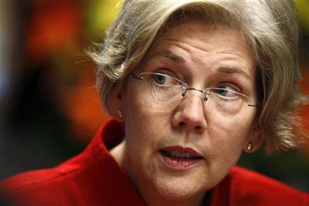 Consumer Financial Protection Bureau Advisor Elizabeth Warren speaks at the Reuters Future Face of Finance Summit in Washington March 1, 2011. REUTERS/Kevin Lamarque