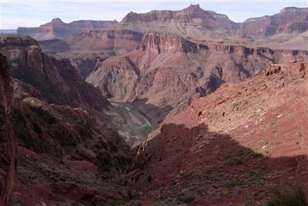 South Rim of the Grand Canyon as seen from the South Kaibab trail in this photo taken January 2, 2008. REUTERS/Rickey Rogers