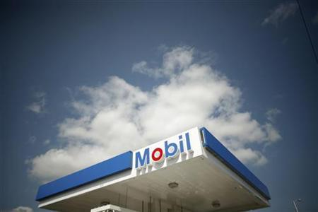 A Mobil gas station is seen in Medford, Massachusetts, in a file photo. REUTERS/Brian Snyder