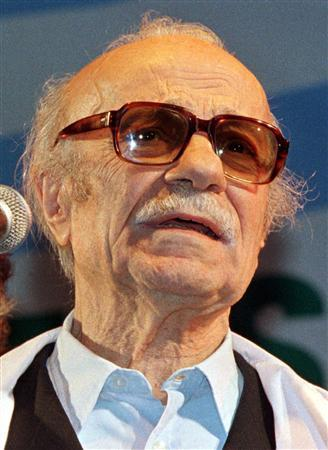 Argentine writer Ernesto Sabato attends a ceremony in Buenos Aires in this October 8, 1997 file photo. REUTERS/Rickey Rogers/File