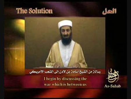 Al Qaeda leader Osama bin Laden speaks in this still image taken from video released on a website September 7, 2007. Al Qaeda leader Osama bin Laden was killed in a mansion outside the Pakistani capital Islamabad, a U.S. source said on May 1, 2011. REUTERS/Reuters TV