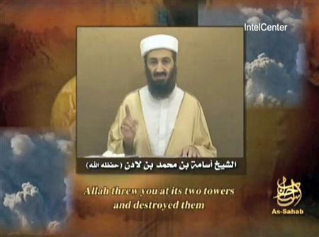 al Qaeda leader Osama bin Laden speaks in this still image taken from video and provided to Reuters on September 11, 2007. REUTERS/Handout