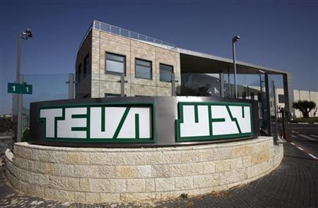 A building belonging to generic drug producer Teva, Israel's largest company with a market value of about $57 billion, is seen in Jerusalem March 23, 2010. REUTERS/Baz Ratner