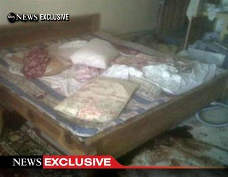 A frame grab obtained from ABC News shows the interior bedroom in the mansion where Osama Bin Laden was killed. REUTERS/ABC News