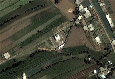 This DigitalGlobe satellite image, taken June 15, 2005 and obtained on May 3, 2011, shows the compound (C) that Osama bin Laden was killed in on Monday in Abbottabad, Pakistan. Bin Laden was killed during a U.S. assault on his Pakistani compound on Monday, then quickly buried at sea, in a dramatic end to the long manhunt for the al Qaeda leader who had become the most powerful symbol of global terrorism. Mandatory Credit REUTERS/DigitalGlobe/Handout
