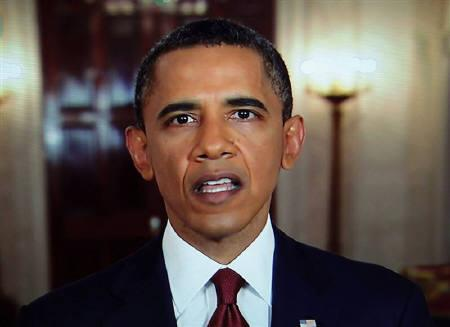 U.S. President Barack Obama announces the death of Osama bin Laden during an address to the nation from the White House in Washington, in this still image taken from video May 1, 2011. REUTERS/Pool