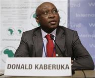 <p>African Development Bank President Donald Kaberuka speaks at a news conference, April 26, 2009. REUTERS/Yuri Gripas</p>