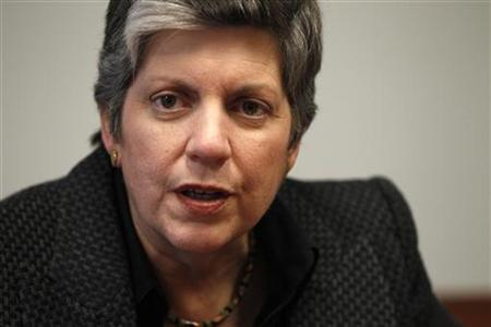 U.S. Homeland Security Secretary Janet Napolitano speaks to Reuters in Washington, March 30, 2011. REUTERS/Hyungwon Kang