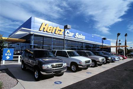 A Hertz rental location in an undated image. REUTERS/Hertz