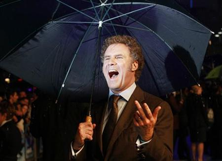 Actor Will Ferrell reacts on the red carpet when he arrives for the UK Premiere of 'The Other Guys' in Leicester Square in London September 14, 2010. REUTERS/Luke MacGregor