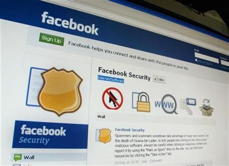 A page from the Facebook website is seen in Singapore May 11, 2011. REUTERS/Tan Shung Sin