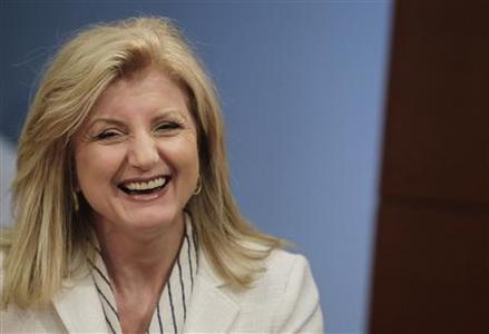 Arianna Huffington, president and Editor-in-Chief of The Huffington Post Media Group, speaks during the Reuters Global Technology Summit in New York, May 16, 2011. REUTERS/Brendan McDermid