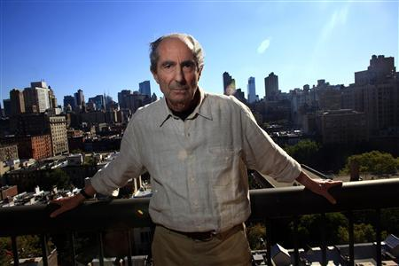 Author Philip Roth poses in New York in this September 15, 2010 file photo. U.S. novelist Roth, lauded for books such as the controversial ''Portnoy's Complaint,'' won the biennial Man Booker International Prize on May 18, 2011 for a body of work stretching over more than half a century. REUTERS/Eric Thayer/Files