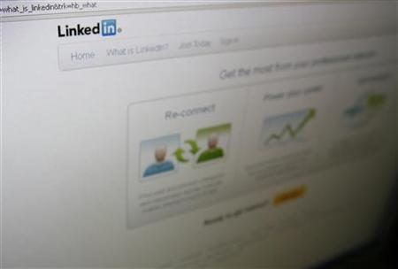 A page from the LinkedIn website is seen in Singapore May 18, 2011. REUTERS/Shahida Patail