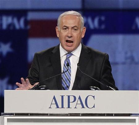 Israel's Prime Minister Benjamin Netanyahu speaks at the annual American Israel Public Affairs Committee (AIPAC) policy conference in Washington May 23, 2011. REUTERS/Jason Reed