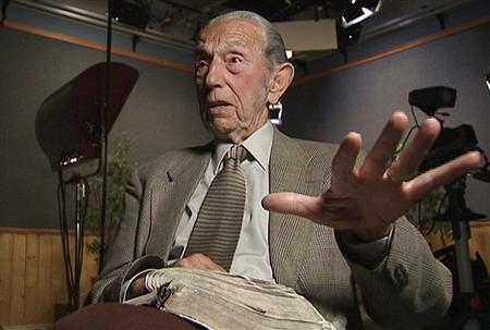 Harold Camping, 89, the California evangelical broadcaster who predicts that Judgment Day will come on May 21, 2011, is seen in this still image from video during an interview at Family Stations Inc. offices in Oakland, California May 16, 2011. REUTERS/Reuters Television