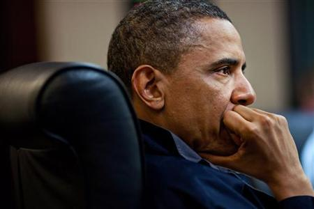 President Barack Obama listens during one in a series of meetings discussing the mission against Osama bin Laden, in the Situation Room of the White House May 1, 2011.REUTERS/White House/Pete Souza/Handout