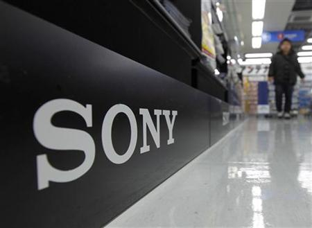 A Sony logo is pictured at an electronic shop in Tokyo February 3, 2011. REUTERS/Kim Kyung-Hoon