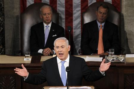 Israel's Prime Minister Benjamin Netanyahu addresses a joint meeting of Congress in Washington, May 24, 2011. REUTERS/Jason Reed