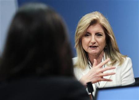 Arianna Huffington, president and Editor-in-Chief of The Huffington Post Media Group, speaks during the Reuters Global Technology Summit in New York May 16, 2011. REUTERS/Brendan McDermid